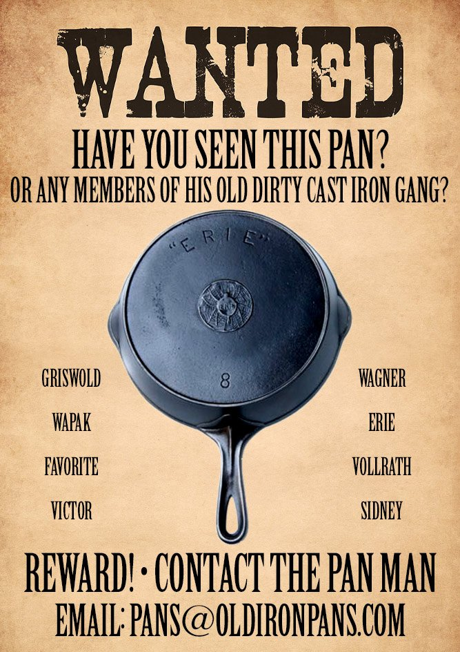 cast iron pans wanted